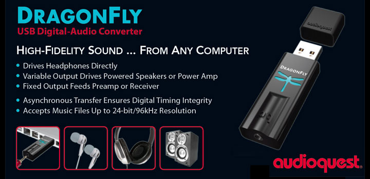Audioquest DragonFly - USB DAC Dongle for Audiophiles