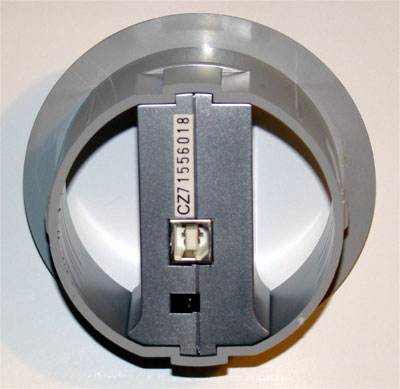 The bottom of the hub where the USB and power connections reside.