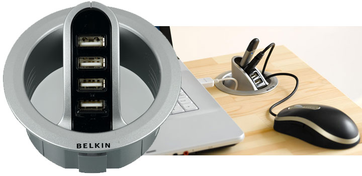 Belkin Grommet Hole 4 Port Usb Hub Review Everything Usb