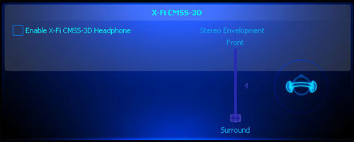 Enabling X-Fi CMSS 3D - essentially a surround sound emulation mode.