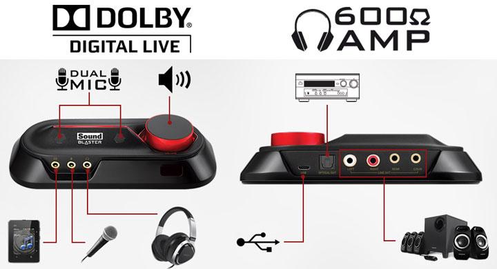 Creative SB Omni Surround USB DAC Boasts Dolby Digital Live