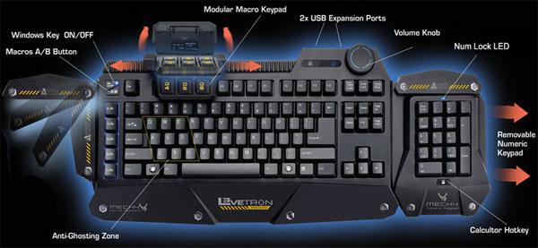 Azio Mech4 Ruggedizes Hardcore Gaming Keyboard
