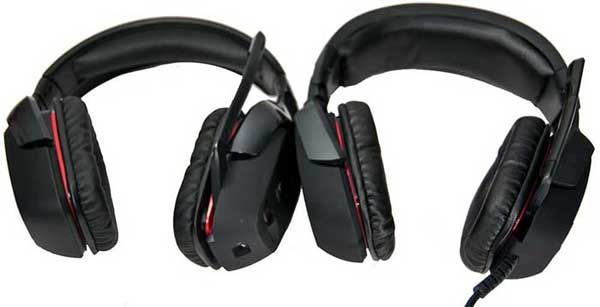 Logitech G930 on left; G35 on the right.