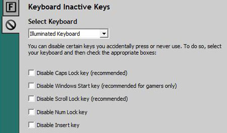 Disabling the Windows Start key is only a click away to avoid interruptions during a gaming session.