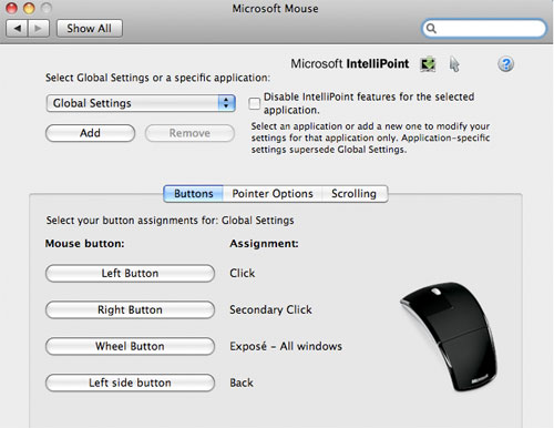 arc touch mouse mac software