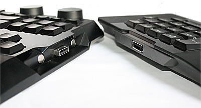 Two magnetic points on both left and right sides attach the numpad together with the keyboard.