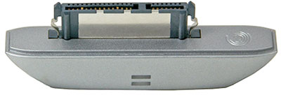 The adapter contains both the external interface and its bridge controller chip.