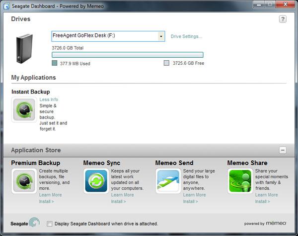 seagate freeagent external hard drive software