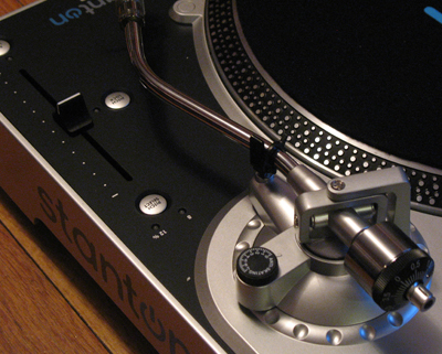 Want to play records on the T.90 USB turntable? Then you'll need to figure out how to adjust that big metal knob at the end of the tone arm.