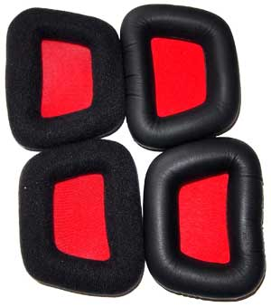 Velour & leatherette earpads